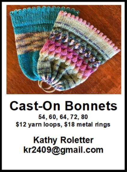 Cast-on Bonnets Ad